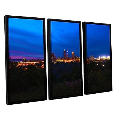 ArtWall 'Cleveland 3' 3-Piece Canvas Set 36
