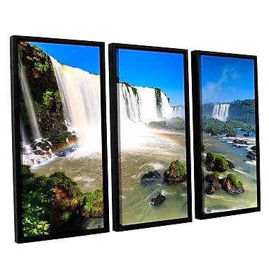 ArtWall 'Iguassu Falls 3' 3-Piece Canvas Set 36