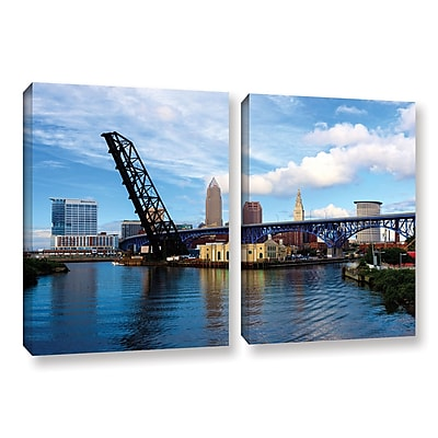 ArtWall 'Cleveland 12' 2-Piece Gallery-Wrapped Canvas Set 32