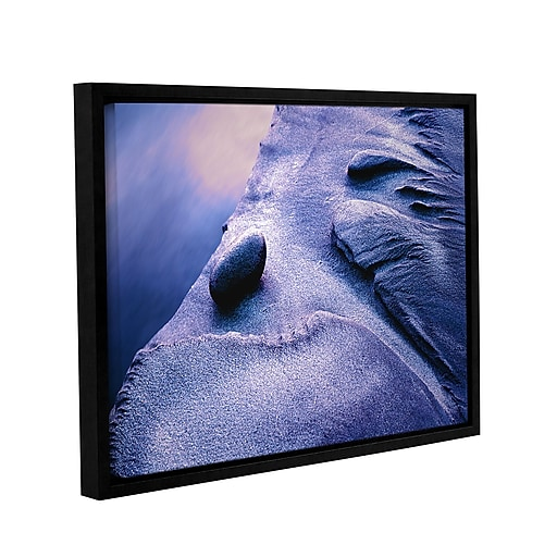 """ArtWall 'Rock Sand And Stream' Gallery-Wrapped Canvas 36"""" x 48"""" Floater-Framed (0uhl119a3648f)"""