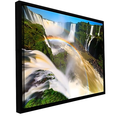 ArtWall 'Iguassu Falls 2' Gallery-Wrapped Canvas 32