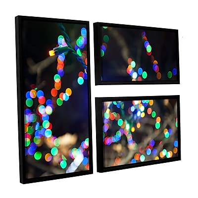 ArtWall 'Bokeh 3' 3-Piece Canvas Flag Set 24