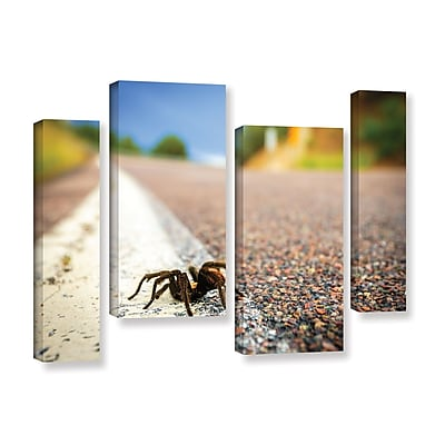 ArtWall 'Tarantula' 4-Piece Gallery-Wrapped Canvas Staggered Set 36