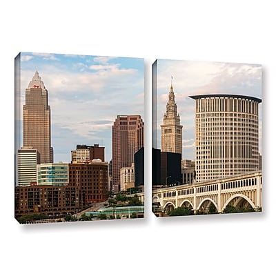 ArtWall 'Cleveland 9' 2-Piece Gallery-Wrapped Canvas Set 32