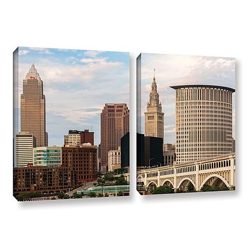 "ArtWall 'Cleveland 9' 2-Piece Gallery-Wrapped Canvas Set 18"" x 28"" (0yor022b1828w)"