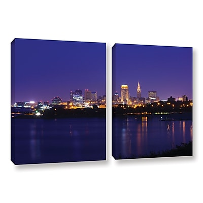 ArtWall 'Cleveland 18' 2-Piece Gallery-Wrapped Canvas Set 18