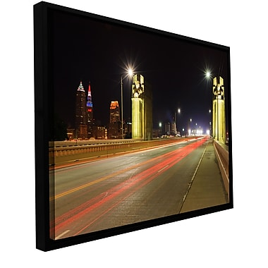 ArtWall 'Cleveland 7' Gallery-Wrapped Canvas Floater-Framed 16