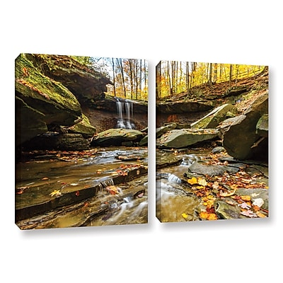 ArtWall 'Blue Hen Falls 3' 2-Piece Gallery-Wrapped Canvas Set 32