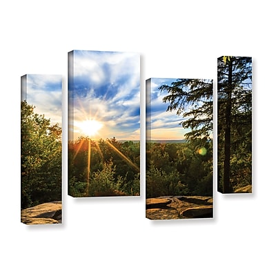 ArtWall 'Virginia Kendall 2' 4-Piece Gallery-Wrapped Canvas Staggered Set 36