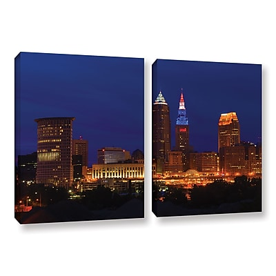 ArtWall 'Cleveland 5' 2-Piece Gallery-Wrapped Canvas Set 32
