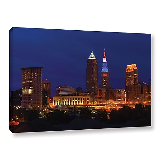 """ArtWall 'Cleveland 5' Gallery-Wrapped Canvas 24"""" x 36"""" (0yor018a2436w)"""