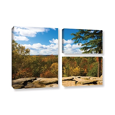 ArtWall 'Virginia Kendall' 3-Piece Gallery-Wrapped Canvas Flag Set 24