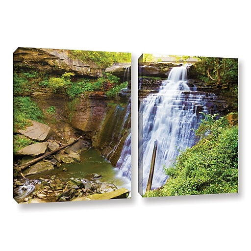 "ArtWall 'Brandywine Falls 2' 2-Piece Gallery-Wrapped Canvas Set 32"" x 48"" (0yor008b3248w)"