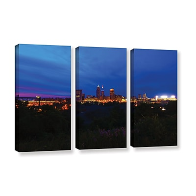 ArtWall 'Cleveland 3' 3-Piece Gallery-Wrapped Canvas Set 36