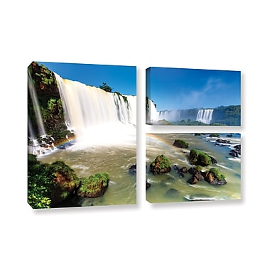 ArtWall 'Iguassu Falls 3' 3-Piece Gallery-Wrapped Canvas Flag Set 24
