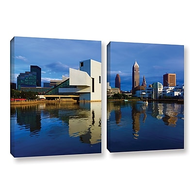 ArtWall 'Cleveland 2' 2-Piece Gallery-Wrapped Canvas Set 32