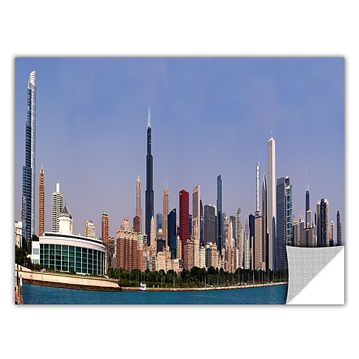 "ArtWall 'Chicago Pano' Art Appeelz Removable Graphic Wall Art 12"" x 24"" (0yor014a1224p)"