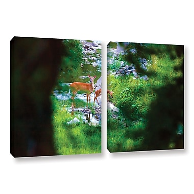 ArtWall 'Deer' 2-Piece Gallery-Wrapped Canvas Set 32