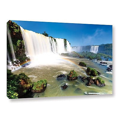 "ArtWall 'Iguassu Falls 3' Gallery-Wrapped Canvas 24"" x 36"" (0yor043a2436w)"