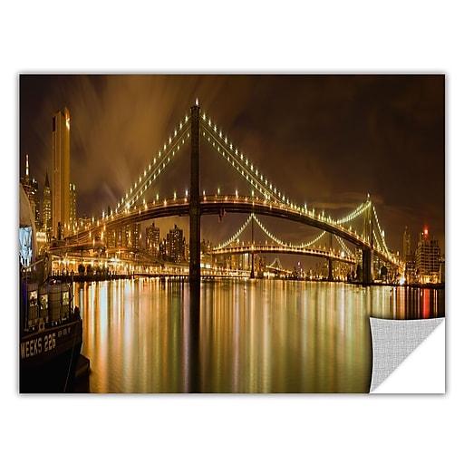 "ArtWall 'Brooklyn Bridge' Art Appeelz Removable Wall Art Graphic 24"" x 48"" (0yor012a2448p)"