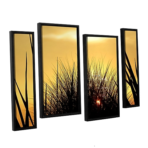 """ArtWall 'Deep In July' 4-Piece Canvas Staggered Set 36"""" x 54"""" Floater-Framed (0uhl156i3654f)"""
