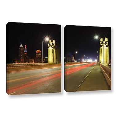 ArtWall 'Cleveland 7' 2-Piece Gallery-Wrapped Canvas Set 32