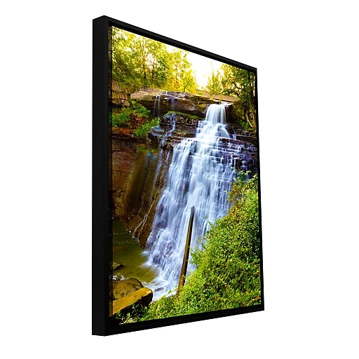 "ArtWall 'Brandywine Falls' Gallery-Wrapped Canvas 12"" x 18"" Floater-Framed (0yor009a1218f)"