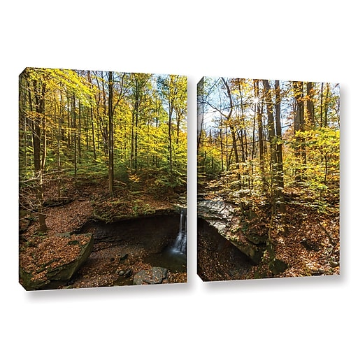 "ArtWall 'Blue Hen Falls' 2-Piece Gallery-Wrapped Canvas Set 32"" x 48"" (0yor004b3248w)"