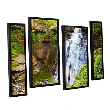 ArtWall 'Brandywine Falls 2' 4-Piece Canvas Staggered Set 36
