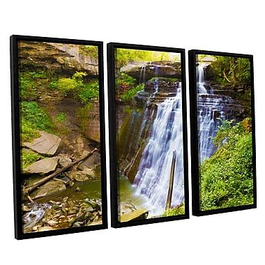 ArtWall 'Brandywine Falls 2' 3-Piece Canvas Set 36