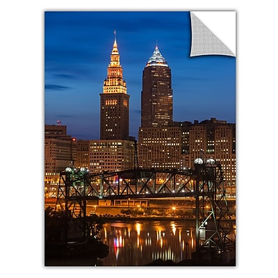 ArtWall 'Cleveland 14' Art Appeelz Removable Wall Art Graphic 24