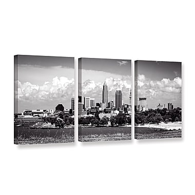 ArtWall 'Cleveland Pano 1' 3-Piece Gallery-Wrapped Canvas Set 24
