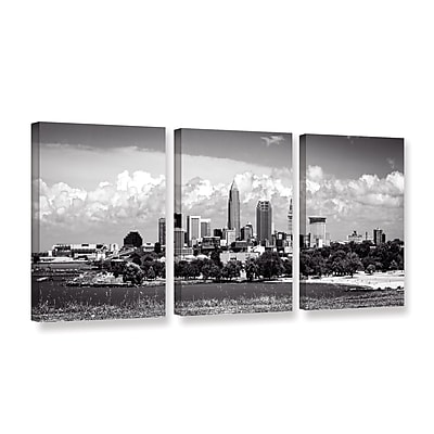 ArtWall 'Cleveland Pano 1' 3-Piece Gallery-Wrapped Canvas Set 36