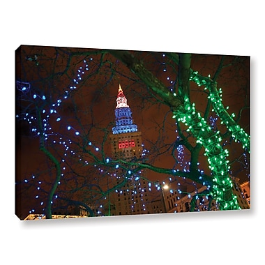 ArtWall 'Terminal Tower' Gallery-Wrapped Canvas 24