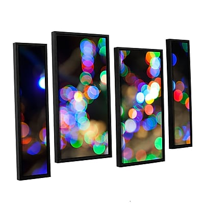 ArtWall 'Bokeh 2' 4-Piece Canvas Staggered Set 36