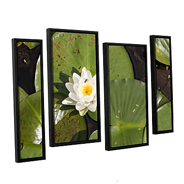 ArtWall 'Lily Pad' 4-Piece Canvas Staggered Set 36