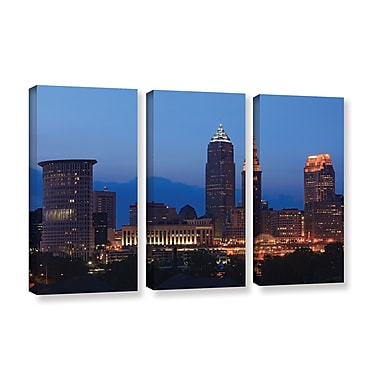 ArtWall 'Cleveland 17' 3-Piece Gallery-Wrapped Canvas Set 36