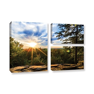 ArtWall 'Virginia Kendall 2' 3-Piece Gallery-Wrapped Canvas Flag Set 24
