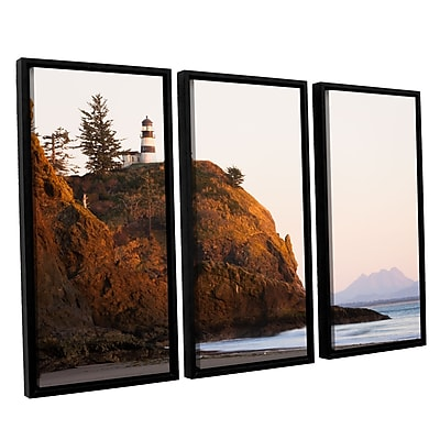 "ArtWall ""Lighthouse"" 3-Piece Canvas Set 36"" x 54"" Floater-Framed (0yor044c3654f)"