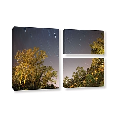 ArtWall 'Star Trails' 3-Piece Gallery-Wrapped Canvas Flag Set 24
