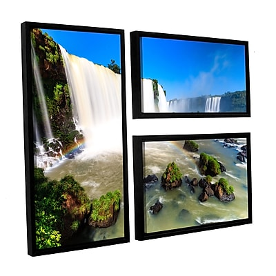 ArtWall 'Iguassu Falls 3' 3-Piece Canvas Flag Set 24
