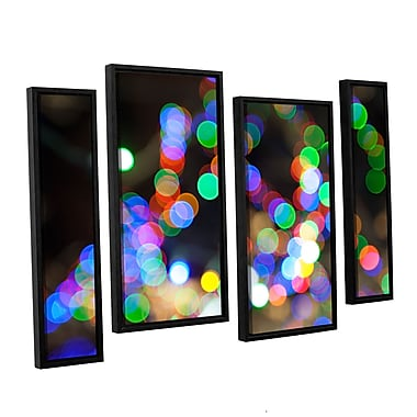 ArtWall 'Bokeh 1' 4-Piece Canvas Staggered Set 24