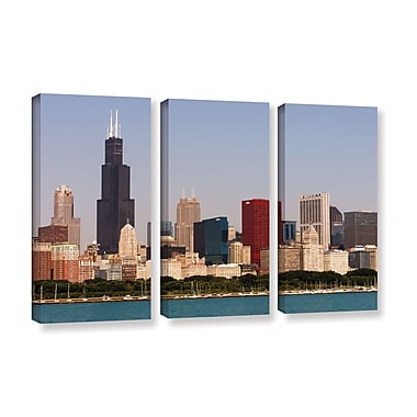 ArtWall 'Chicago' 3-Piece Gallery-Wrapped Canvas Set 36