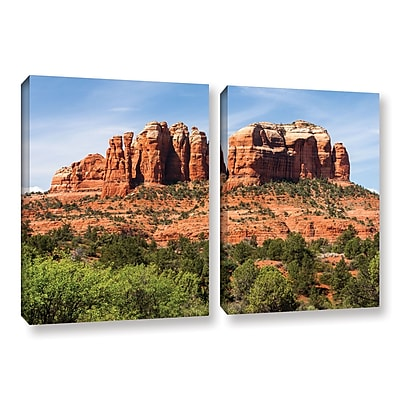 "ArtWall ""Sedona 2"" 2-Piece Gallery-Wrapped Canvas Set 18"" x 28"" (0yor054b1828w)"