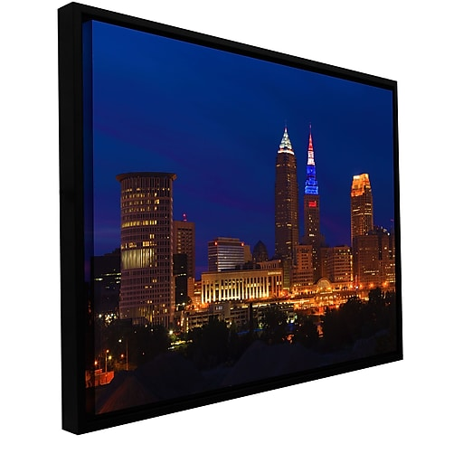 "ArtWall 'Cleveland 5' Gallery-Wrapped Canvas 16"" x 24"" Floater-Framed (0yor018a1624f)"