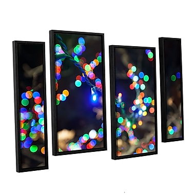 ArtWall 'Bokeh 3' 4-Piece Canvas Staggered Set 24