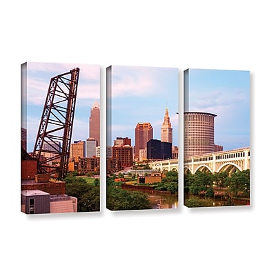 ArtWall 'Cleveland 10' 3-Piece Gallery-Wrapped Canvas Set 36