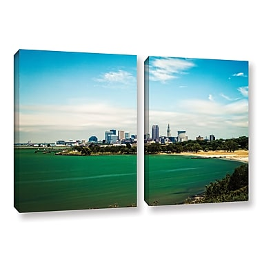 ArtWall 'Cleveland 22' 2-Piece Gallery-Wrapped Canvas Set 18