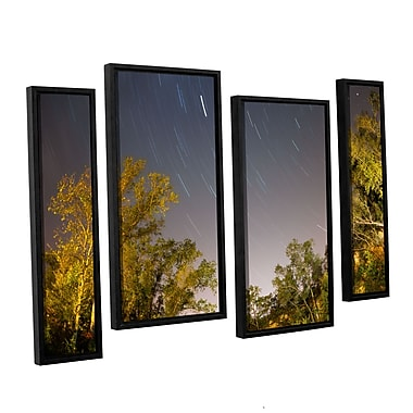 ArtWall 'Star Trails' 4-Piece Canvas Staggered Set 24