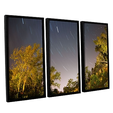 ArtWall 'Star Trails' 3-Piece Canvas Set 36